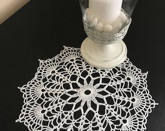 Crochet Doily/ white doily
