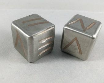 Stainless Steel Gaming Dice Pair