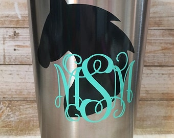 Horse Monogram Decal/Horse Decal/Monogram Decal/Horse Head Monogram Decal/ Yeti Decal/RTIC Decal/Tumbler Decal/Car Decal/Personalized Decal