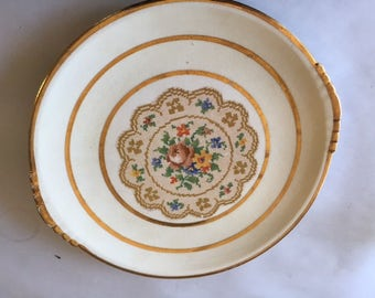 Paden City Gold-leaf China Dish [22 kt.]