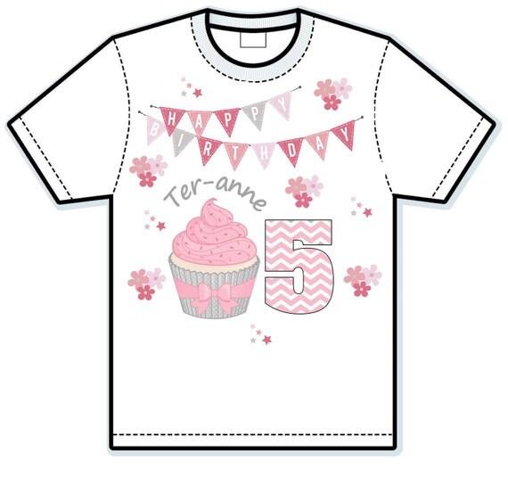 Cupcake happy birthday shirt