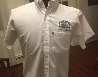 Classic Button Down Work Shirt from Famous Cafe Tacuba Bar