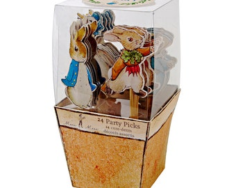 Peter Rabbit and Friends 24 Cupcake Cake Toppers for Baking Childrens Birthday Party Kids Beatrix Potter Parties Supplies