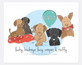 Custom A4 'Pets are family' Printable, Fun pet vector illustration, Wall & Desk doodle-art, Great gift for all ages, Made to order