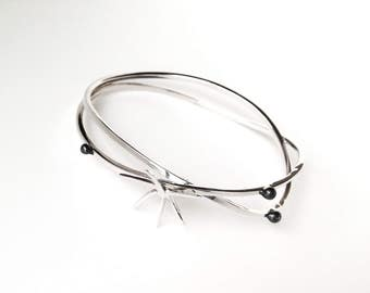 Cocteau-01: silver wire Bracelet and email