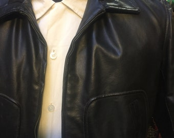 Very interesting: coat of the 1950s looks like leather but is made of...rubber!