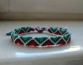 Woven bracelet, friendship bracelet, festival style