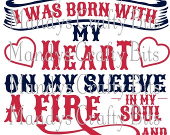 Digital file SVG Texans I Wear My heart On My Sleeve