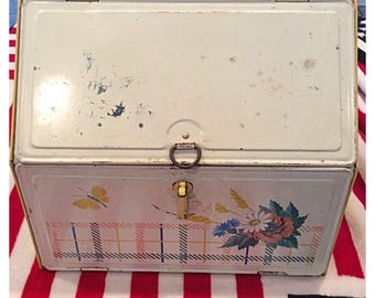 Vintage metal breadbox and pie safe