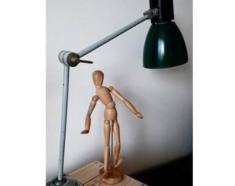 Forest green industrial desk lamp, industrial lighting, vintage industrial, industrial decor, industrial fixtures, retro desk lamp