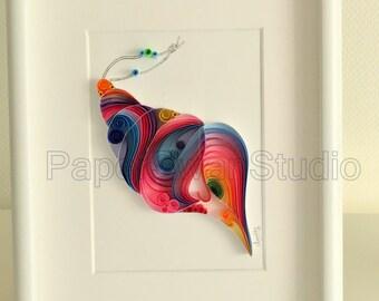 Colorful Conch Seashell
