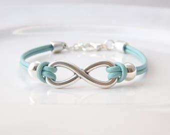 infinity bracelet mint