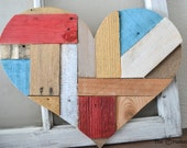 Colorful Wood Heart