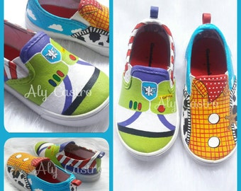 Toy Story Woody and Buzz custom shoes