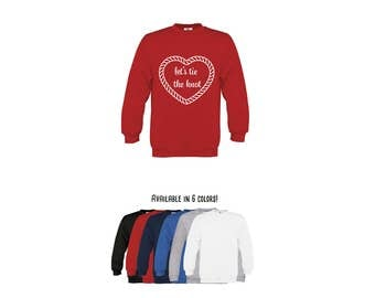 Kids proposal sweater, let's tie the knot, engagement sweater, marriage proposal sweater, marriage sweater, marry me sweater, heart sweater