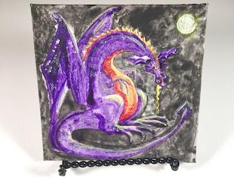 Miniature Dragon Acrylic Painting