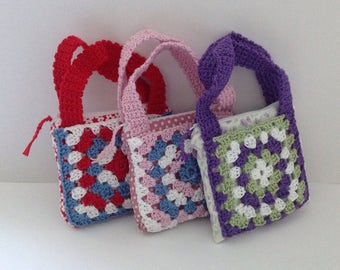 Handbag. Childs Crochet Handbag.