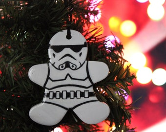 Star Wars Stormtrooper Gingerbread Man Ornament/ Wall hanging: Great unique Graduation Gift for geek, nerd or Star Wars lover