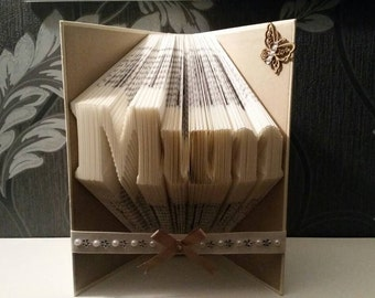 Mum - Folded Book Art