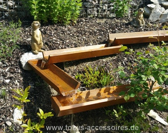Wood tray 100 cm - for a waterway of a special kind