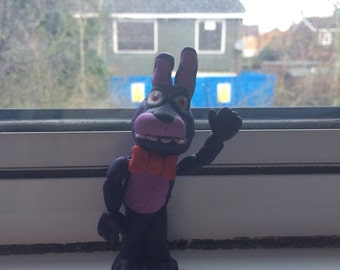 Bonnie fnaf poseable polymer clay figurine