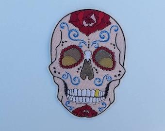 Sugar Skull patch, skull patch, sugar skull pin