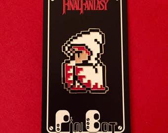 Final Fantasy 1 NES - 8-Bit Enamel Pin - White Mage - Hat Pin - Lapel Pin