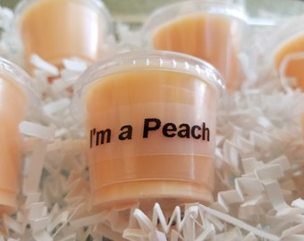 I'm a Peach scent shot, Georgia Peach, soy wax melts, wax tarts, peach tart, peach wax tarts, peach wax melt, wax warmer, peachy