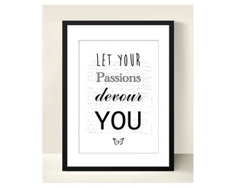 """Winter Sales! -30% - NEW - Ornamental (Decorative poster) poster - """"Let your Passions you devour"""" A3"""