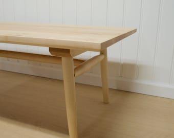 Modern Handmade Maple Coffee Table