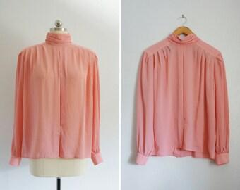 1980s Nilani top | vintage 80s pink top | vintage pink top