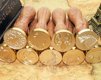 Game Wax Seal Stamp Calligraphic Initial Seal