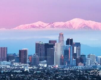 "Los Angeles Panorama   ""LA Skyline"" at Sunset   LA Panorama   Los Angeles Skyline - Los Angeles Photo - Los Angeles Wall Art - LA Photo"