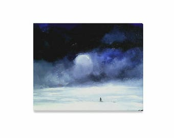 """Canvas Art Print 20""""x16"""" +3 other sizes -Meeting a Friend- FREE Shipping"""