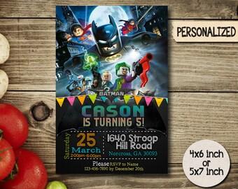 Lego Invitation / Lego Batman Invitation / Batman Invitation / Lego Birthday / Lego Batman Birthday / Batman Birthday / Lego Batman_BS001