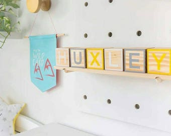 Wooden Letter Blocks (Raw Framed)