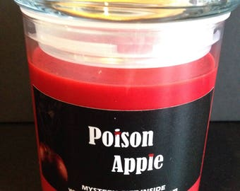 22oz Snow White inspired Poison Apple scented candle with a mystery prize inside!