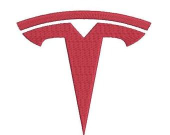 6 sizes - Tesla Logo Embroidery Design, Tesla Embroidery Design, Car emblem embroidery, car logo embroidery, instant download
