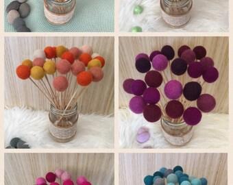 Felt Ball Flowers / Billy Ball Flowers /Alternative Bouquet / Pom Pom Flowers / Decorations