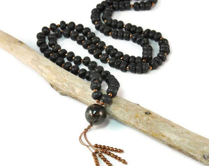 Stavrolite Statement Necklace Boho Style. Long Necklace. Ideas for her. Boho Jewelry. Bohemian Necklace. Tassel Necklace
