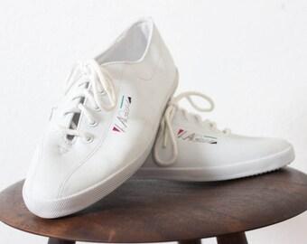 LA Gear LEATHER vintage white tennis shoes deadstock