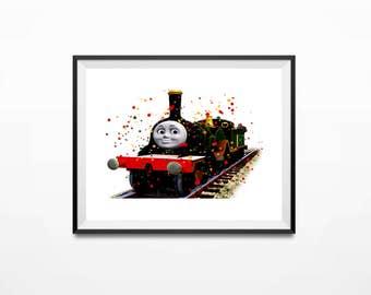 Disney Print, Thomas the Train, Emily Art, Thomas Art Print, Train Print, Thomas Print, Thomas Poster, Thomas and Friends, Thomas Gifts