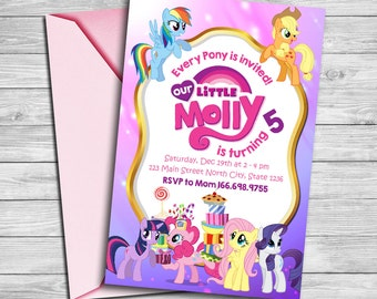 my little pony party | etsy, Party invitations