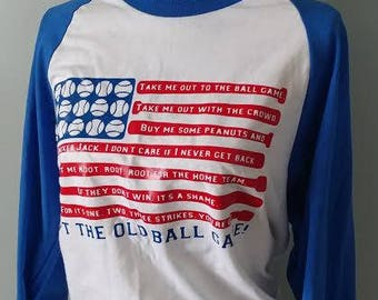 Take Me Out to the Old Ball Game/ Baseball Shirt/ Baseball Fan/ Sports/