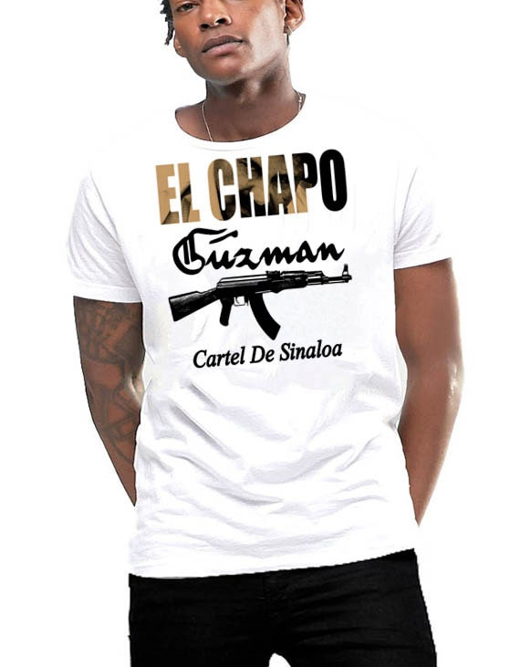 El chapo guzman t shirt mexican druglord cotton tee for Chapo guzman shirt brand