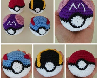 Hand crochet Pokemon Pokeball