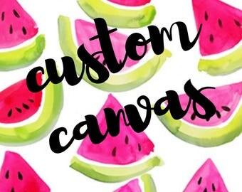 custom hand painted canvas