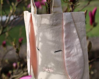 Cute easter basket in form of a tote bag / Easter / Present