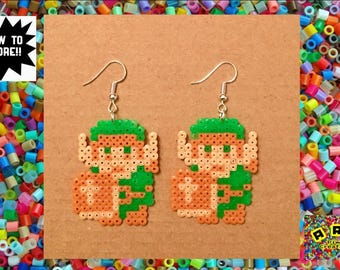 Legend of Zelda: Link Hama Earrings