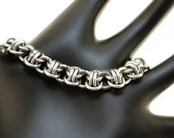 Chainmaille Bracelet - Stainless Steel Bracelet - Dainty Bracelet - Chainmaille Jewelry - Stainless Steel Jewelry- for Him - For Her